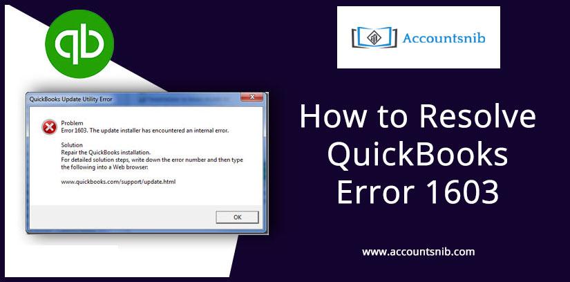 How to Resolve QuickBooks Error 1603